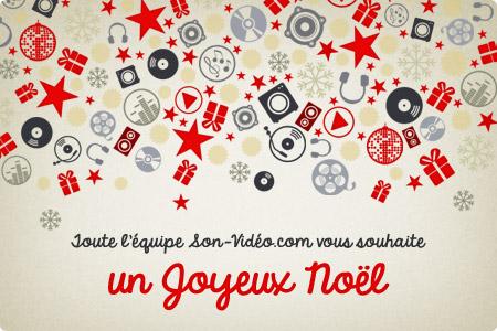 Toute l'équipe de Son-Vidéo.com vous souhaite un joyeux Noël!