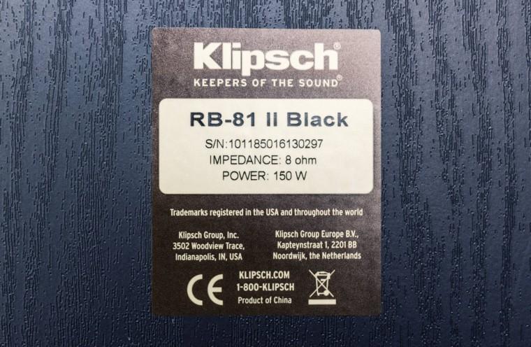 Test Klipsch RB-81 MKII