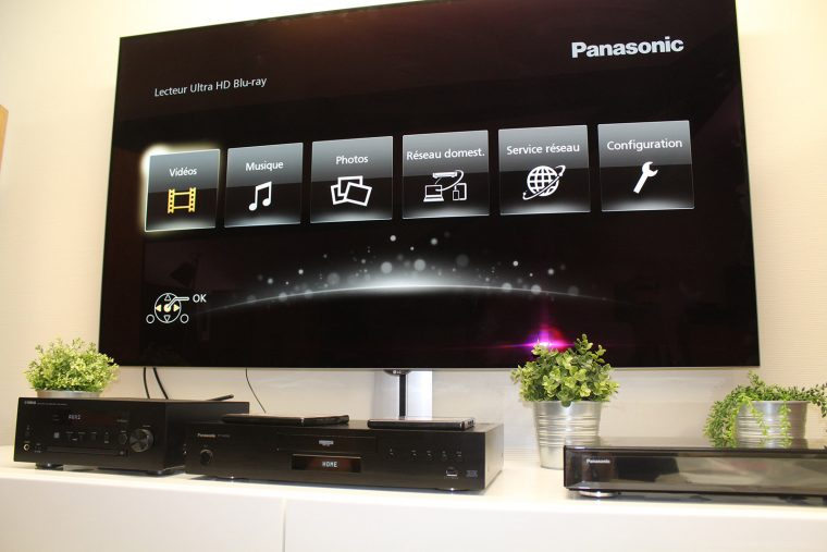 Panasonic DP-UB9000: menu d'accueil