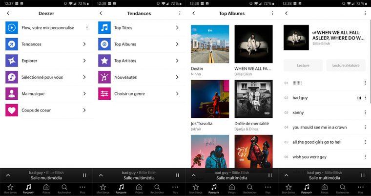 App Sonos: Deezer