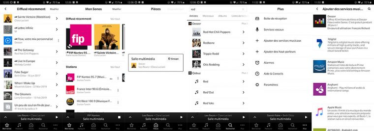 App Sonos: Mon Sonos, gestion multiroom, ajout de services musicaux...